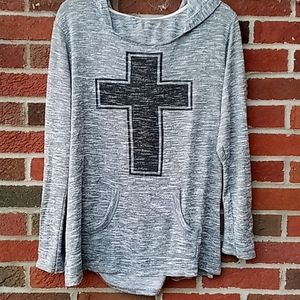 Christian 🙏 Cross hoodie medium
